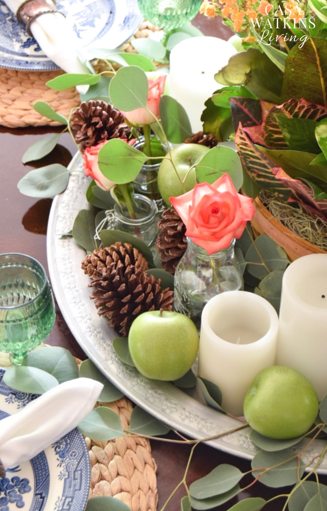how to make global boho fall centerpiece
