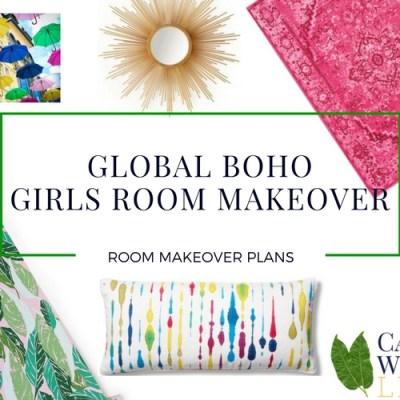 Global Boho Girls Room Makeover