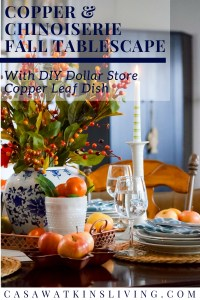 How to decorate with copper or fall tablescape