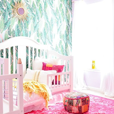 Colorful Global Boho Girl's Room Reveal