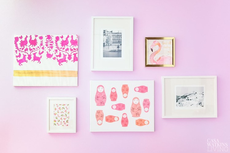 gallery wall idea for girls room