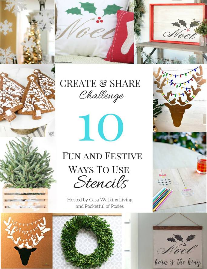 Fun and festive holiday stenciled projects that anyone can make!