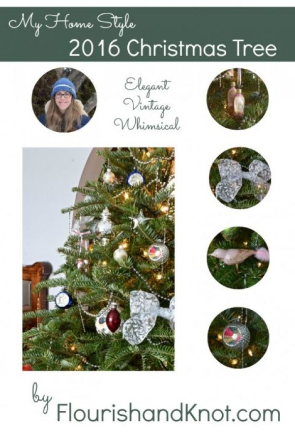 Elegant vintage whimsical Christmas Tree by Flourish and Knot