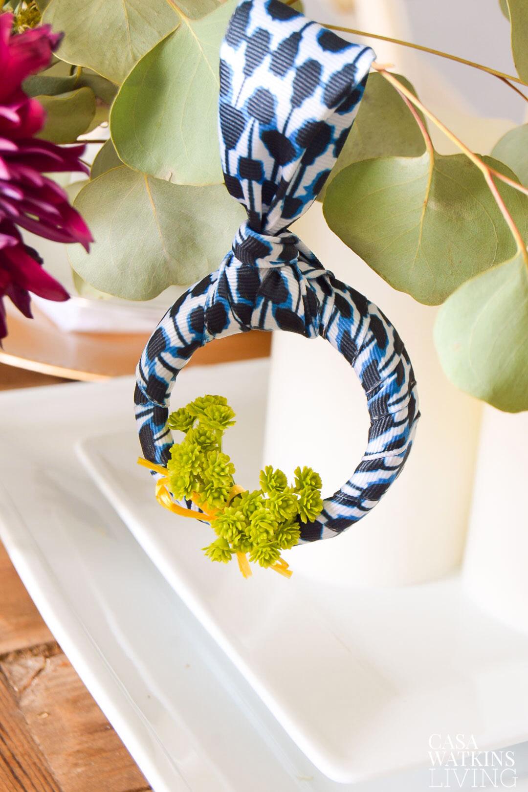 how to make a DIY shibori ornament