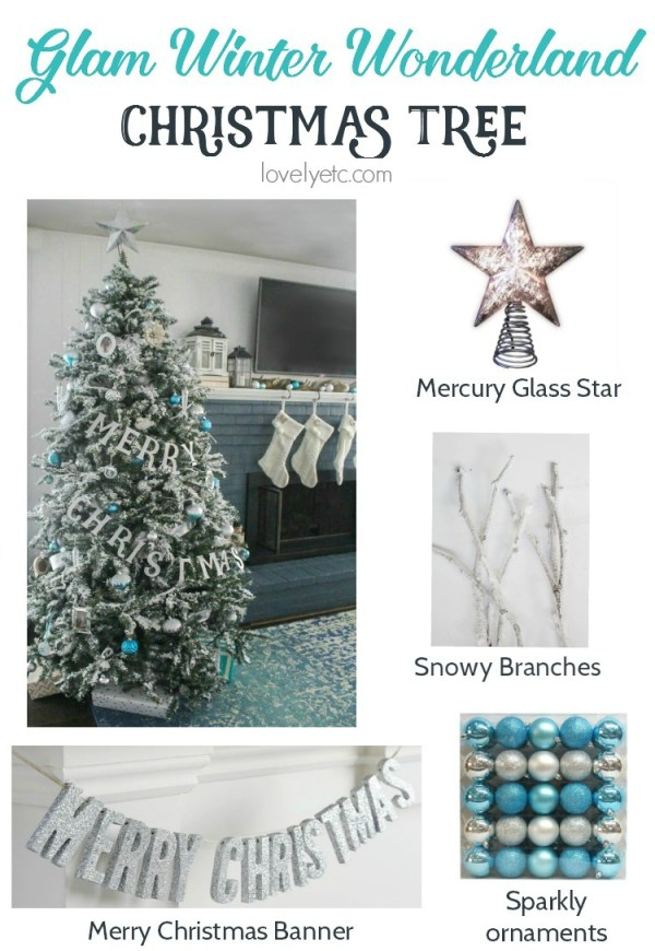 rustic glam winter wonderland tree via LovelyEtc