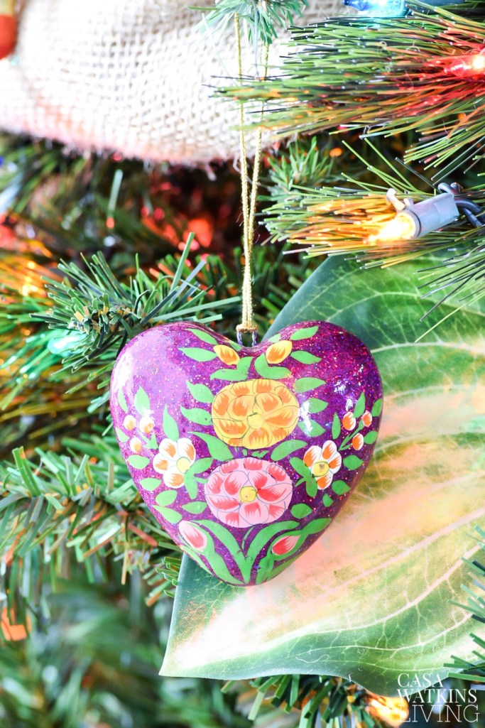 Indian paper mache painted ornament