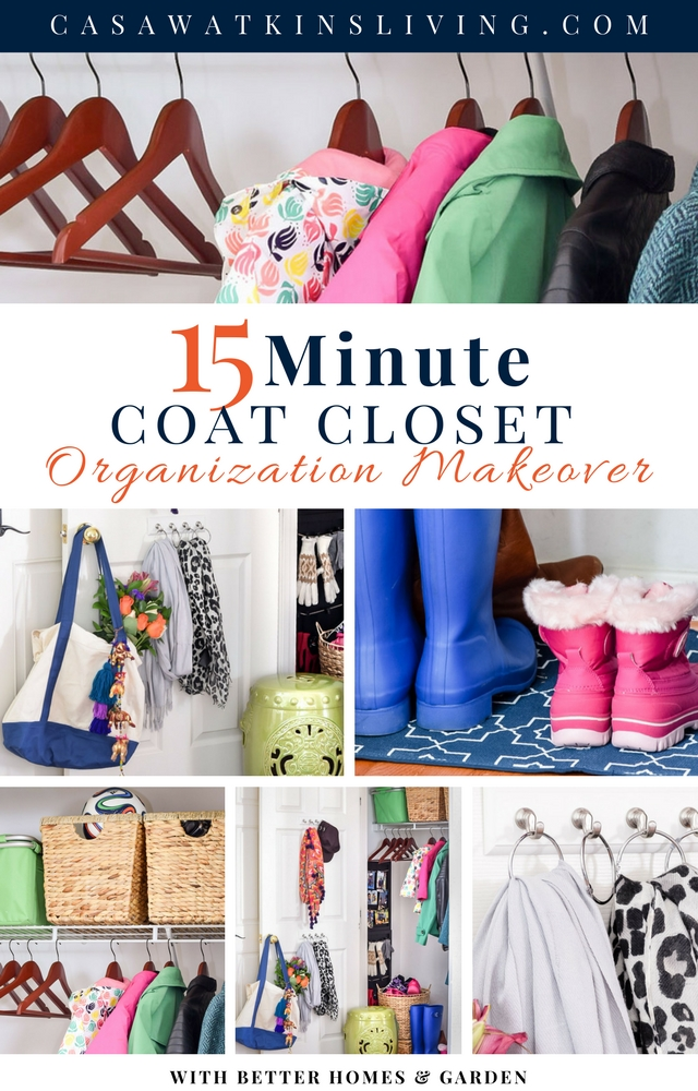 organization ideas for a coat closet