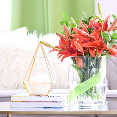DIY Simple Vase Makeover With Tape
