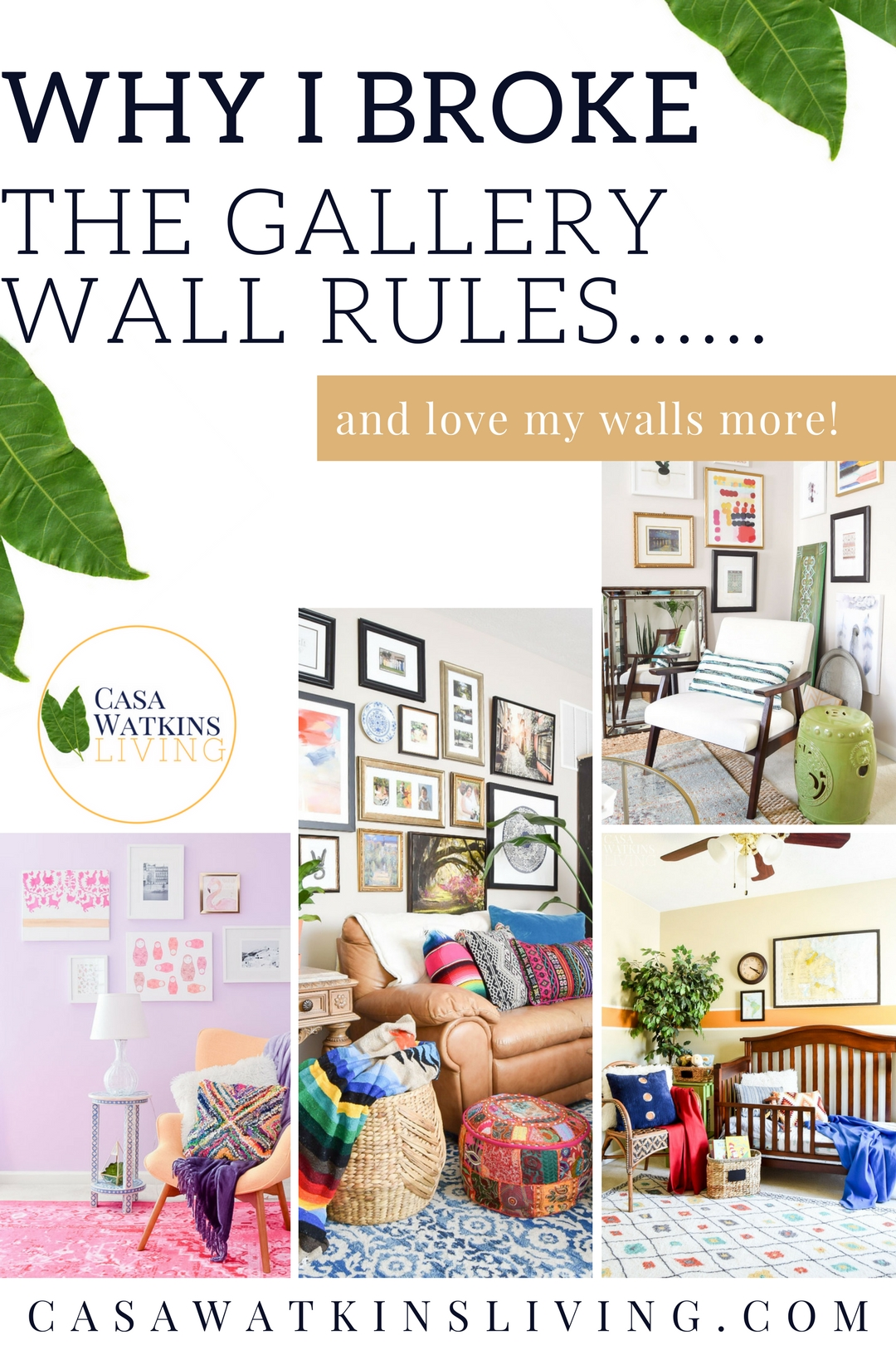 how to decorate gallery walls without rules
