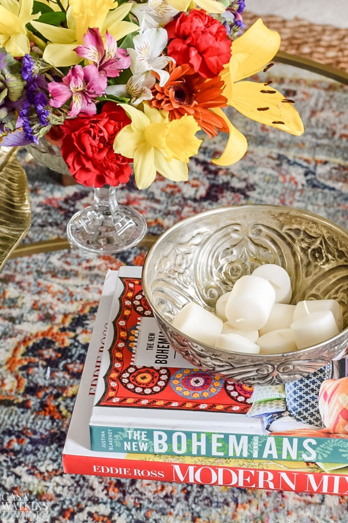 hammam bowl with candles