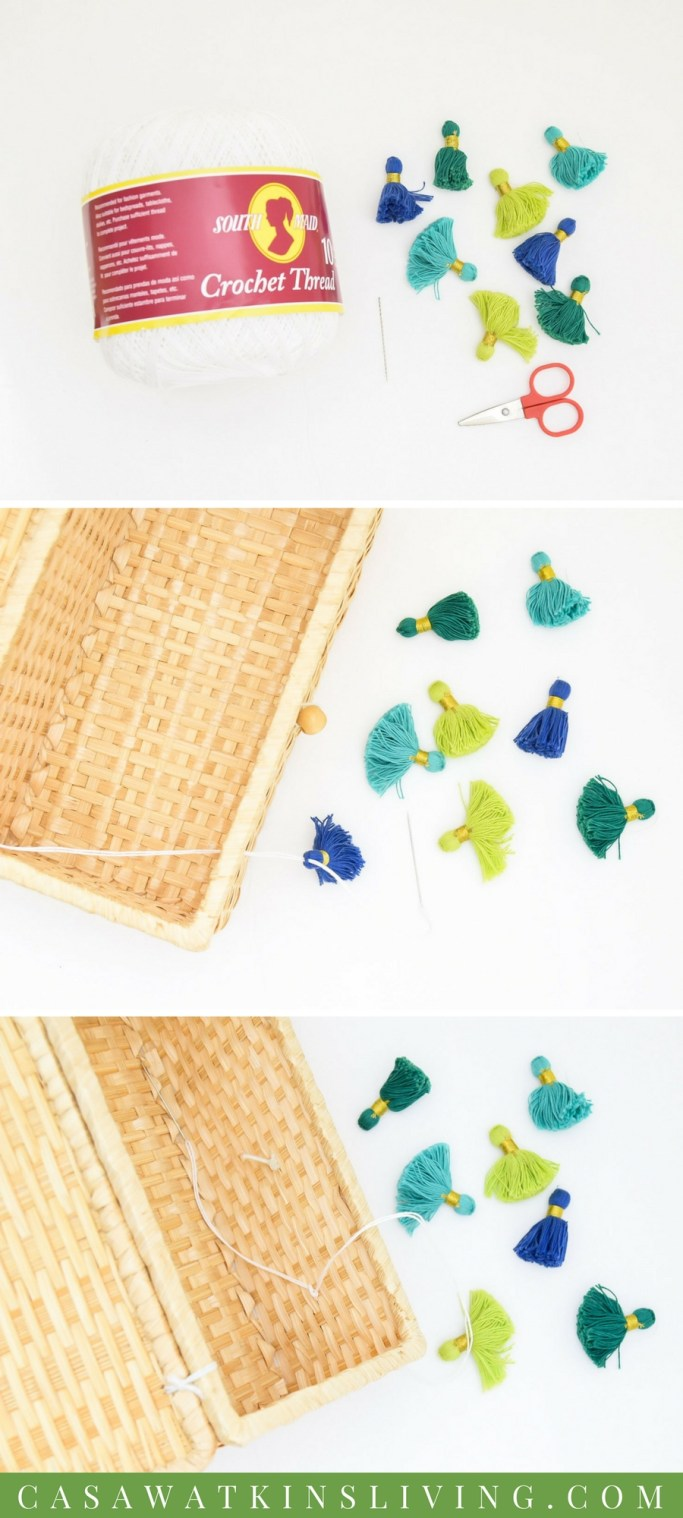 how to sew on tassels
