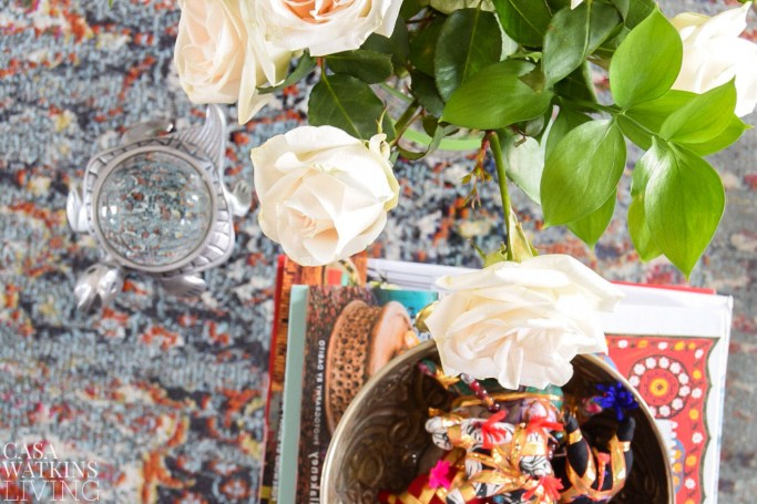 bohemian table decor for spring
