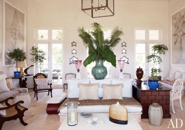Beach Caribbean style living room