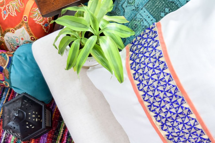 diy no sew global style pillow cover