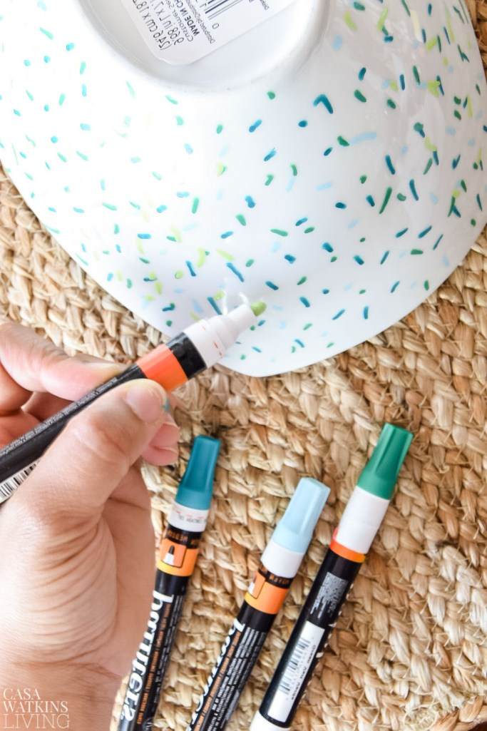 diy painted bowl makeover