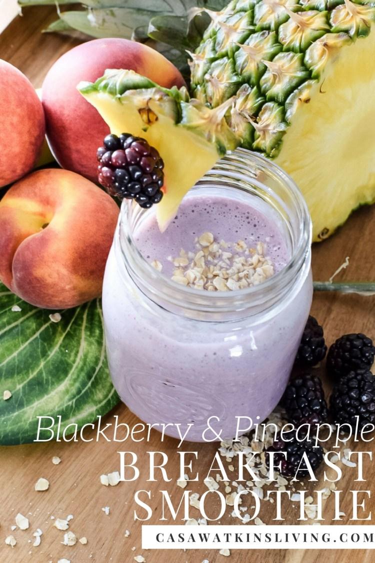 blackberry-pineapple-breakfast-smoothie