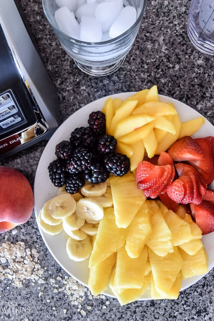 how to make fruit and oatmeal smoothie