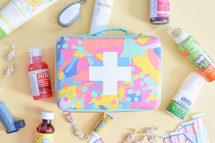 What to pack in a family travel medical kit