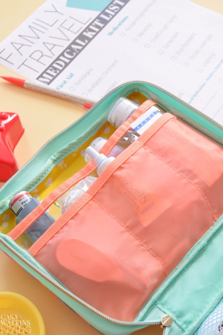 what to pack for family medical kit