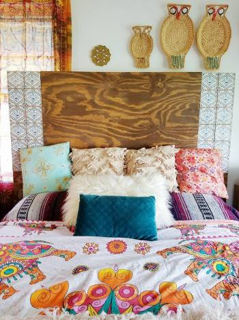 diy tiled headboard