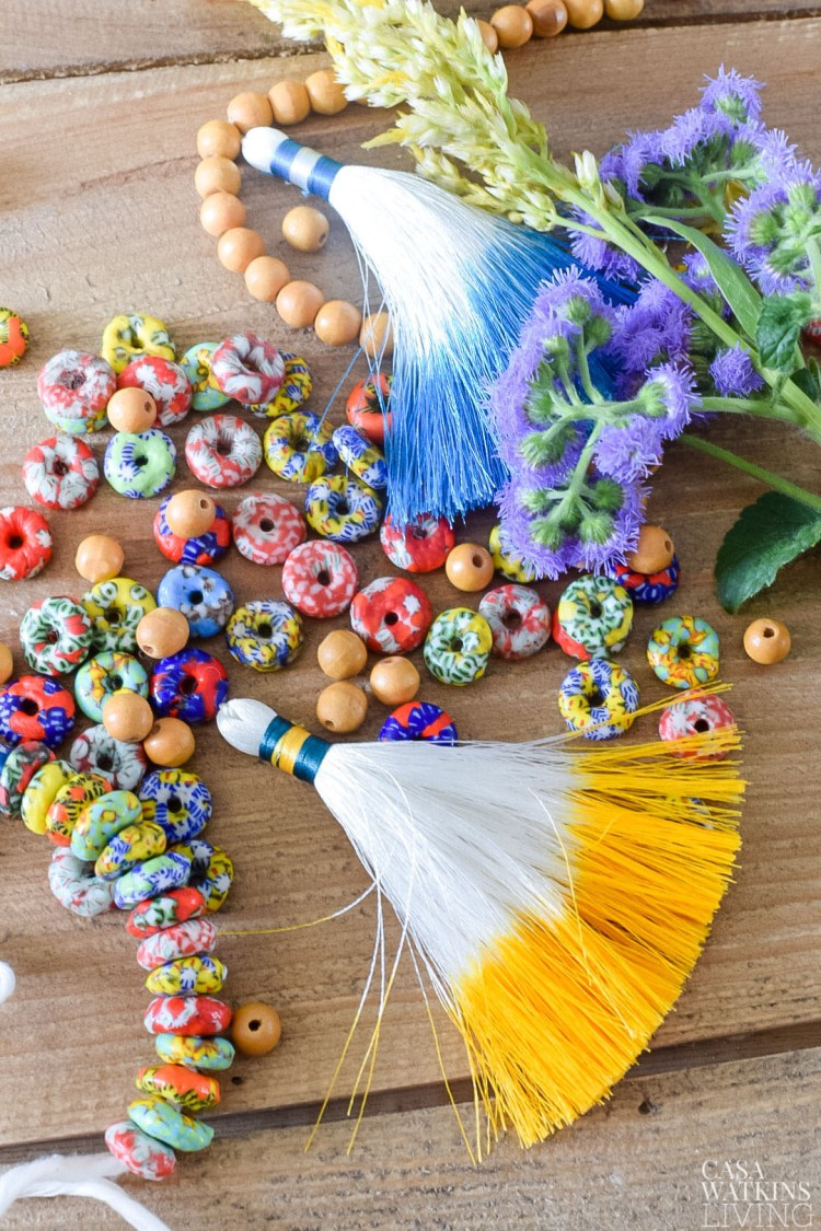 how to make boho bead garland