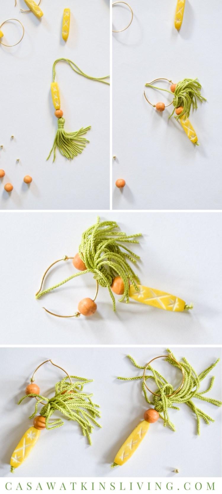 how to make diy pineapple inspired wine glass charm