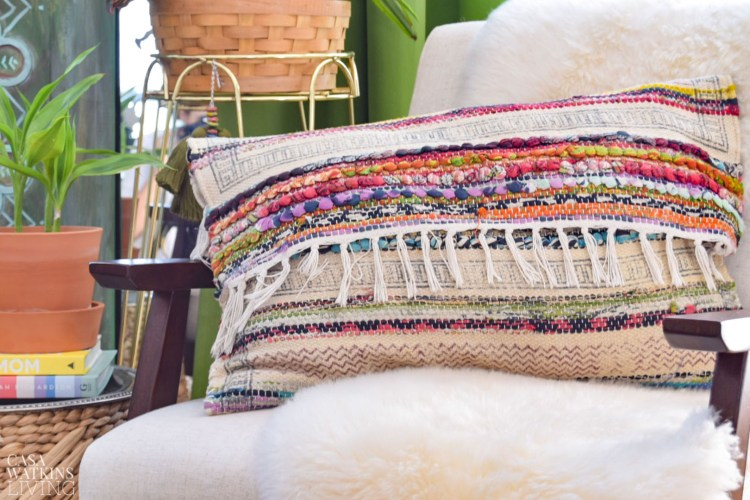 diy boho style pillow tutorial