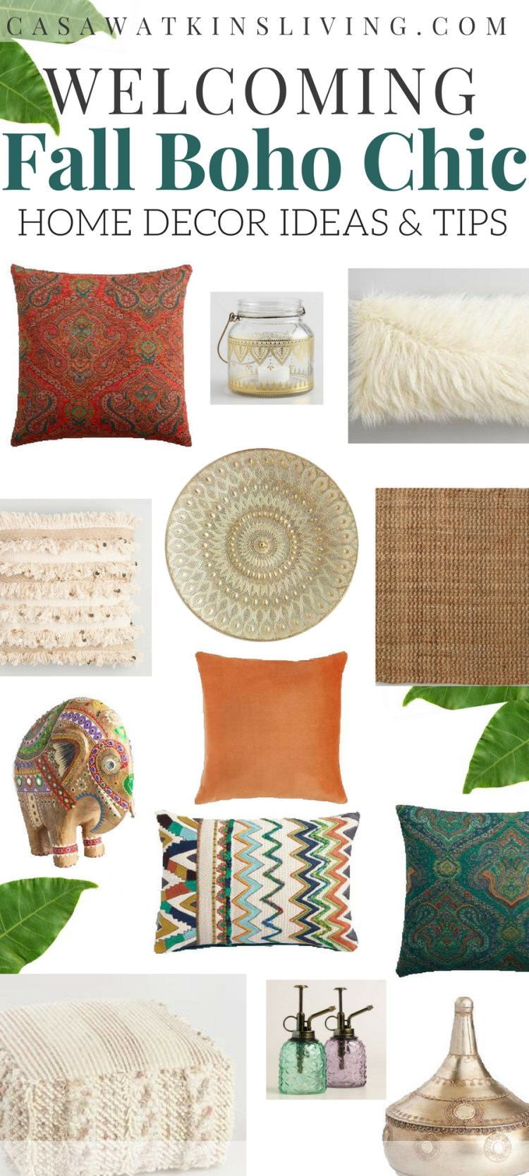 fall boho chic decor ideas and tips for welcoming entryway and living room