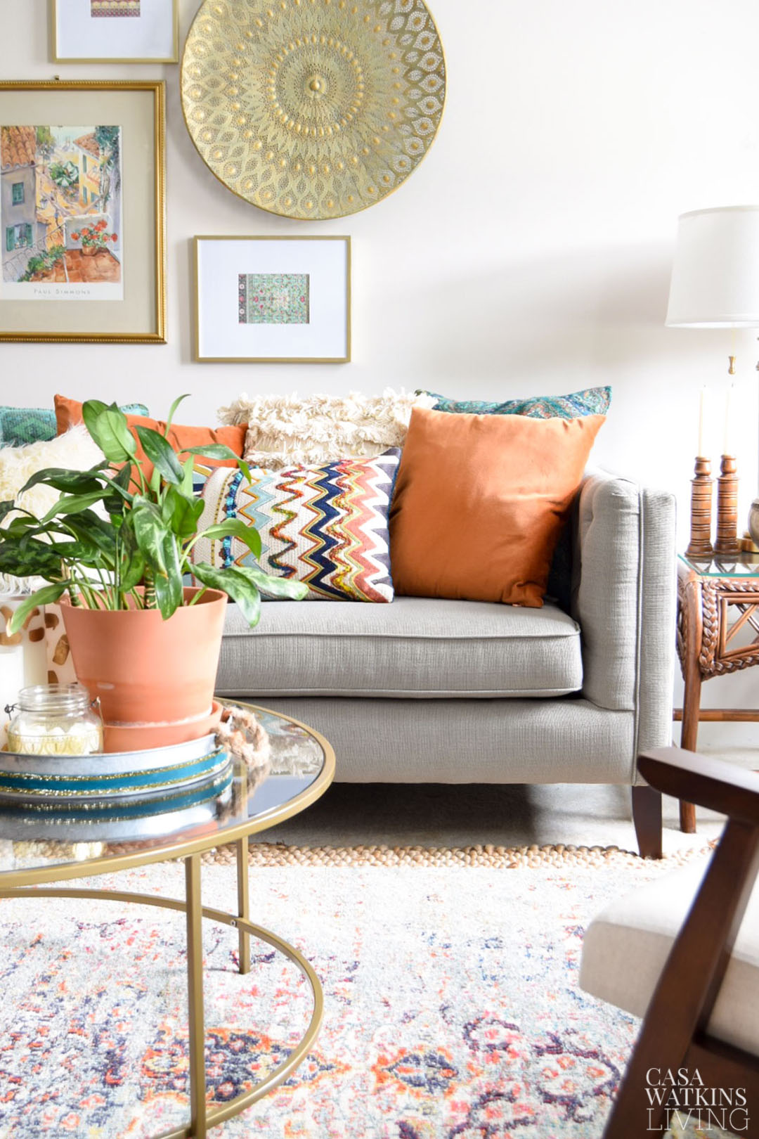 Fall Decorating Tips For Global Style Living Room