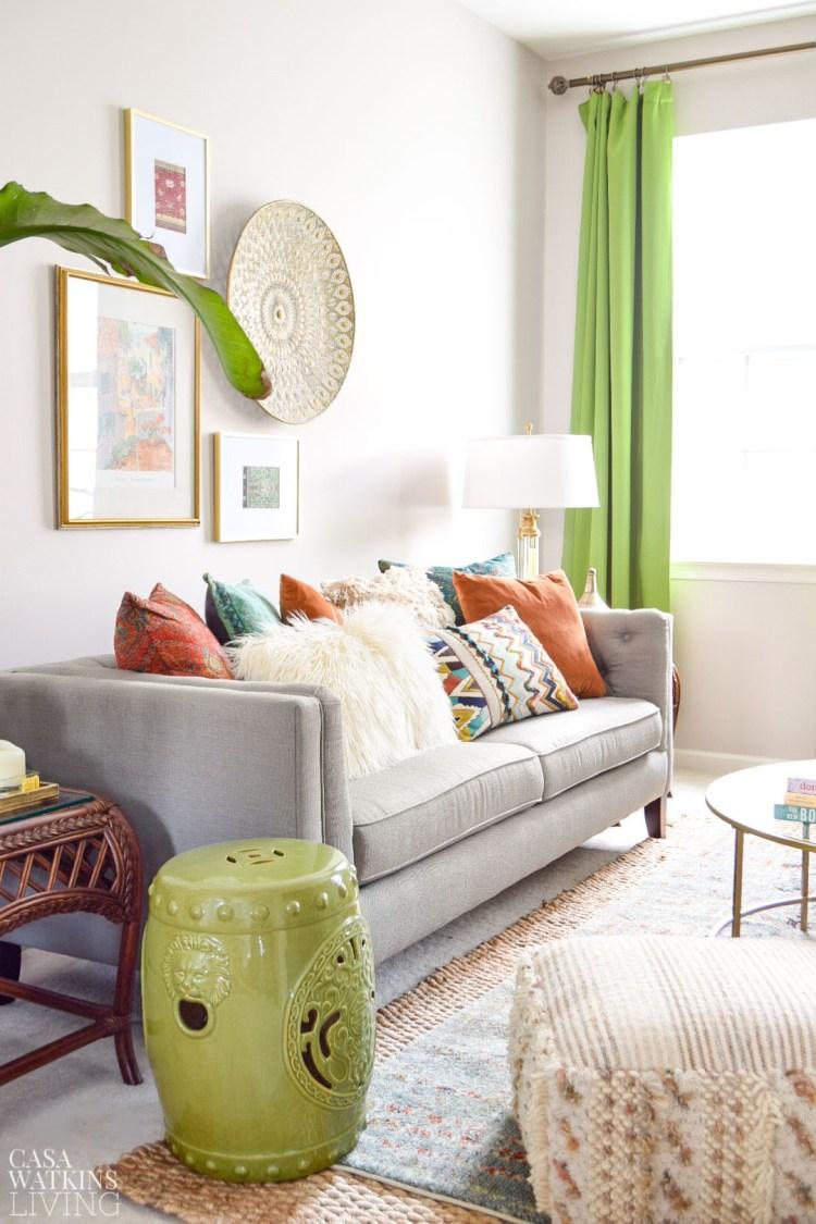 boho style living room decor ideas for fall