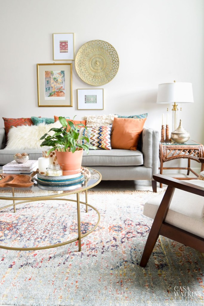 global style fall decorating ideas for living room