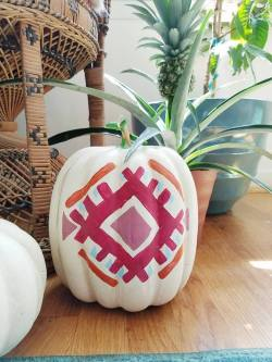 Kilim Inspired Painted Pumpkins - A Designer At Home