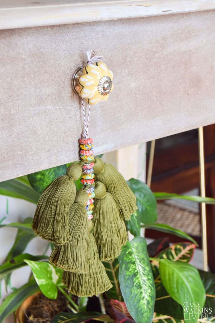 diy tassel knob bobble