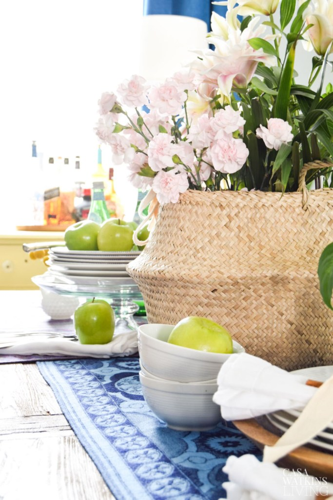 boho chic fall dining table decor
