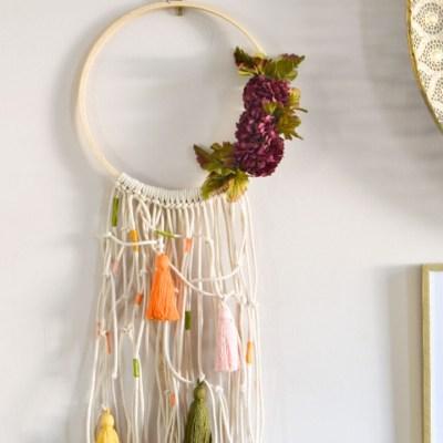 DIY Fall Bohemian Macrame Wreath