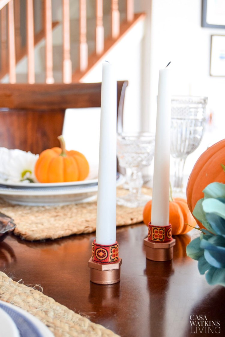 diy african inspired candlestick holders from pvc pipe