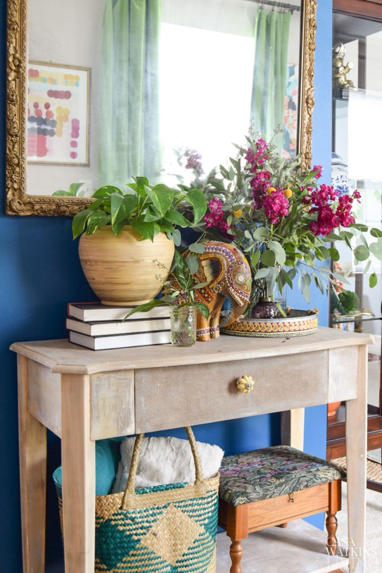 how to strip MDF furniture for weathered effect
