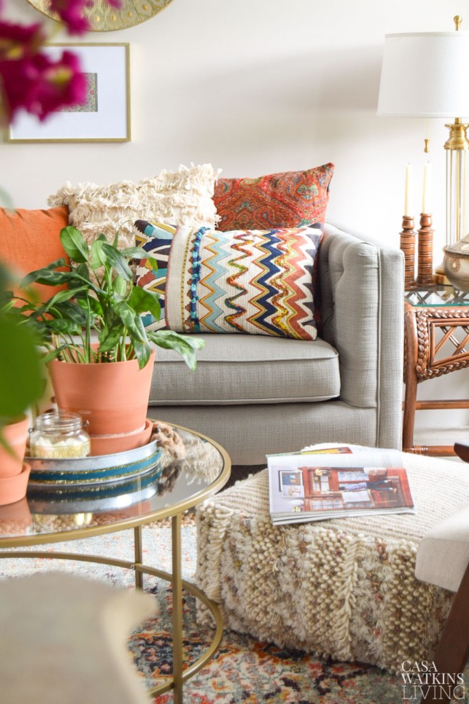tips for styling boho style pillows
