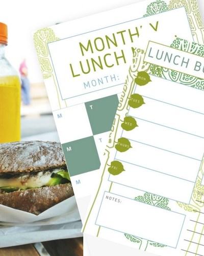Printable Lunch Menu Planner