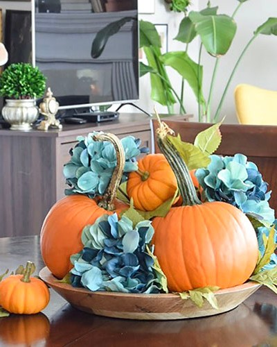 5 Minute Simple Pumpkin Centerpiece