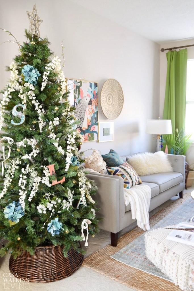 boho Christmas room tour and decor ideas