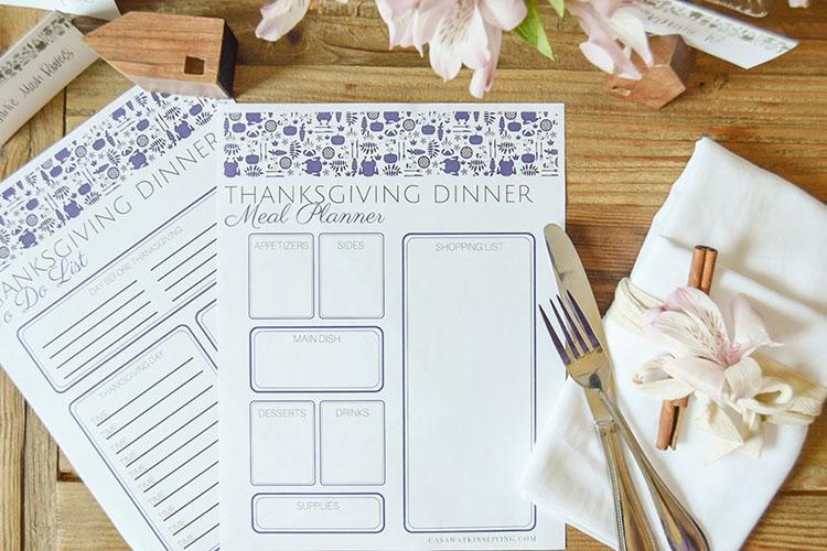 Otomi Thanksgiving Menu Planner Printable