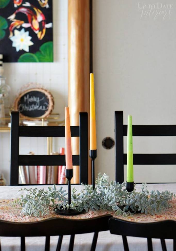 How To Make Scandi Candle Centerpiece - Up To Date Interiors