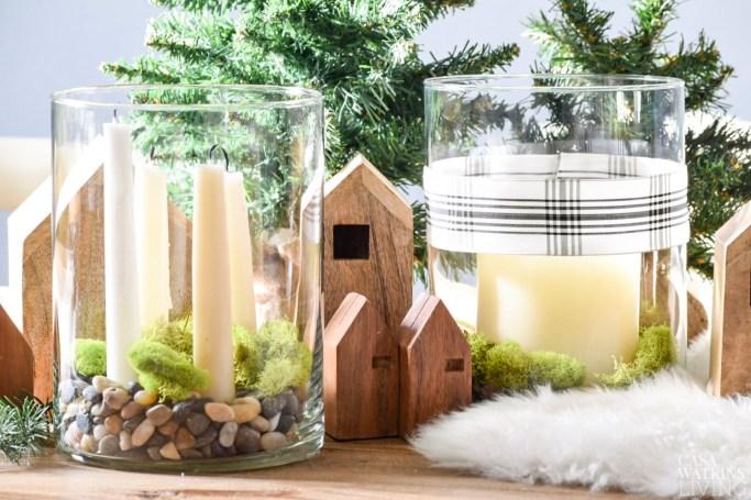 simple scandinavian christmas centerpiece ideas 2 ways - Simple Christmas Centerpieces
