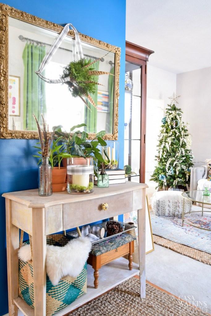 simple bohemian winter entryway decorating ideas