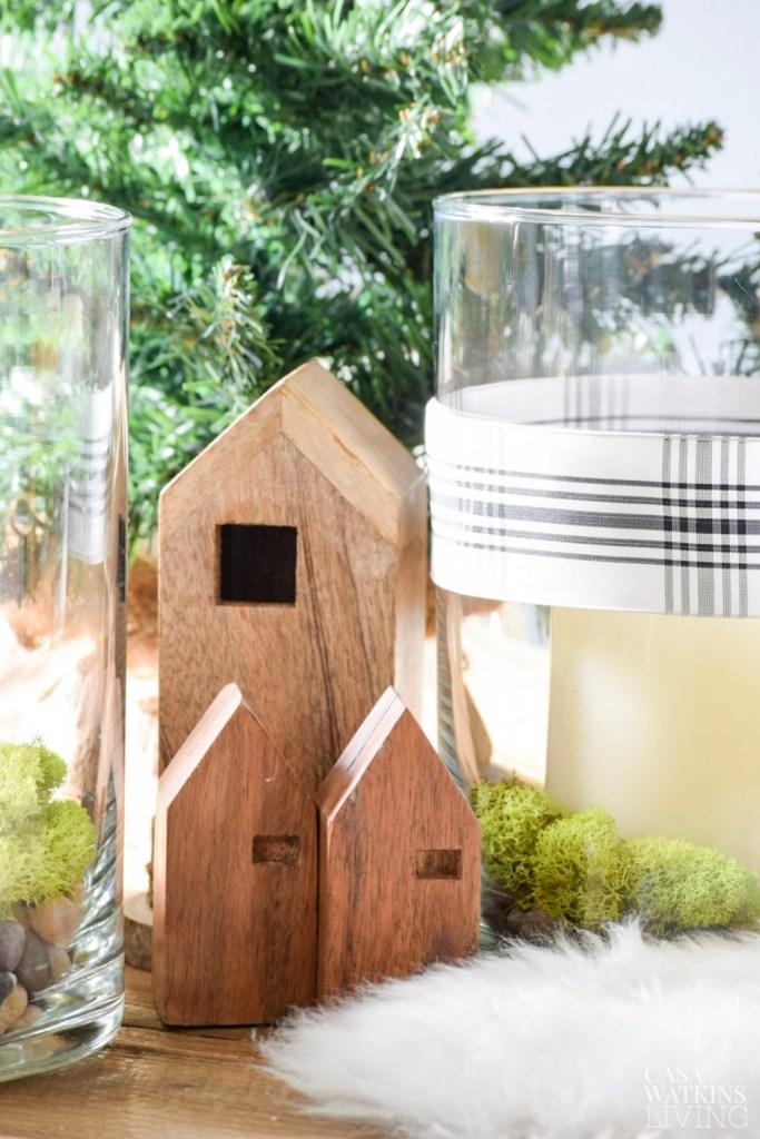 Simple Scandinavian Christmas Centerpiece ideas 2 Ways