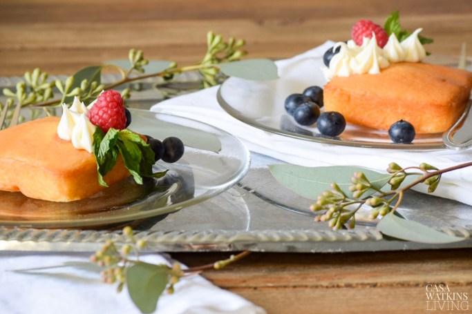 semi-homemade pound cake dessert