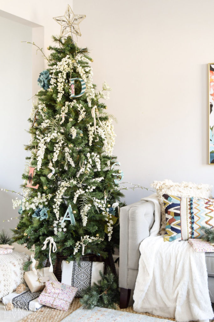 simple bohemian christmas tree decor - Simple Christmas Tree Ideas