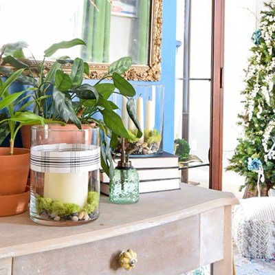 Simple Global Bohemian Winter Entryway Decorating Ideas