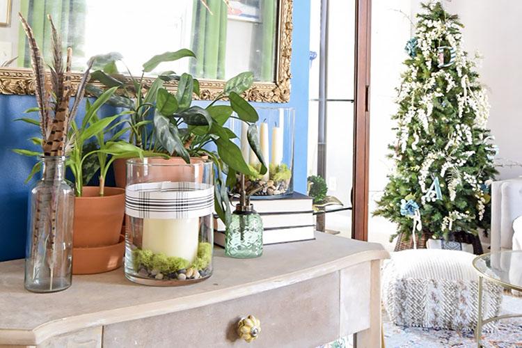 Simple Global Bohemian Winter Entryway Decorating Ideas